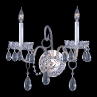 Crystorama 1032-CH-CL-MWP Traditional Crystal 2 Candle Polished Chrome Finish Wall Lighting Fixture