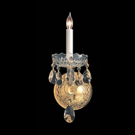 Crystorama 1101-PB-CL-MWP Traditional Crystal 12 Inch Tall Polished Brass Wall Light Sconce