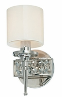 Troy B1921PN Collins 1 Light Diamond Crystal Wall Sconce