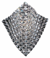 ET2 E24270-20PC Wave 14 Inch Tall Crystal Xenon Polished Chrome Wall Light