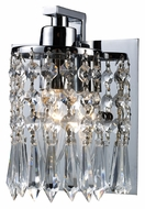 ELK 11228/1 Optix Polished Chrome Crystal 7 Inch Tall Wall Sconce Light Fixture