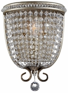 Feiss WB1586-BUS Dutchess Classic Burnished Silver 10 Inch Tall Crystal Wall Sconce Lighting