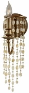 Feiss WB1588-RUS Aura 1 Candle Rustic Silver Finish 16 Inch Tall Lighting Sconce