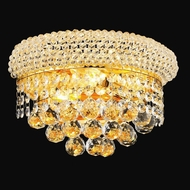 Elegant 1800W12G-RC Primo Small Gold Crystal Wall Sconce