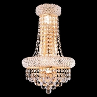 Elegant 1800W12SG-RC Primo Crystal Gold Tall Wall Lighting Sconce