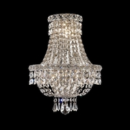 Elegant 2528W12C-RC Tranquil Chrome Crystal Wall Lamp Sconce
