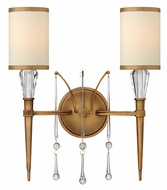 Fredrick Ramond 44502BBZ Bentley 2-light Bronze Wall Sconce with Crystal