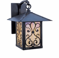 Arroyo Craftsman TRB-9AS Timber Ridge 9 inch Outdoor Wall Sconce with Ashbury Filigree
