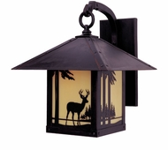 Arroyo Craftsman TRB-12DR Timber Ridge 12 inch Outdoor Wall Sconce with Deer Filigree