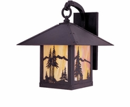 Arroyo Craftsman TRB-9MN Timber Ridge 9 inch Outdoor Wall Sconce with Mountain Filigree