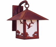 Arroyo Craftsman TRB-9GS Timber Ridge 9 inch Outdoor Wall Sconce with Goose Filigree