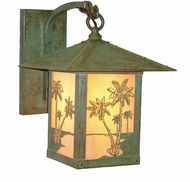 Arroyo Craftsman TRB-12PT Timber Ridge 12 inch Outdoor Wall Sconce with Palm Tree Filigree