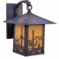 Arroyo Craftsman TRB-12CT Timber Ridge 12 inch Outdoor Wall Sconce with Cactus Filigree