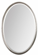 Uttermost 01115 Casalina Beveled 32 Inch Tall Brushed Nickel Oval Mirror