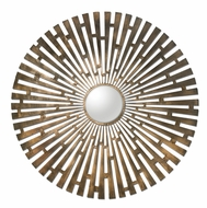 Uttermost 12846 Tremeca 44 Inch Tall Contemporary Circle Mirror - Plated Brushed Brass