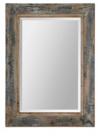 Uttermost 13829 Bozeman Wall Mounted 37 Inch Tall Aged Wood Frame Mirror