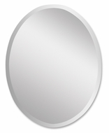 Uttermost 19590-B Frameless Large 36 Inch Tall Oval Mirror