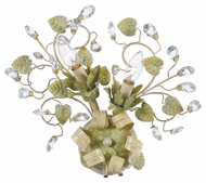 Crystorama 4842-CT Josie Rustic 2 Lamp 14 Inch Tall Champagne Finish Wall Light Sconce