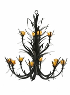 Meyda Tiffany 110277 Flowering Wheat 52 Inch Diameter 12 Lamp Hanging Chandelier - Amber