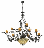 Meyda Tiffany 108705 Diamond & Jewel Oak Leaf 9 Arm 63 Inch Diameter Rustic Ceiling Chandelier