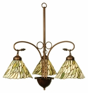 Meyda Tiffany 103042 Jadestone Willow 3 Lamp 24 Inch Diameter Tiffany Ceiling Chandelier