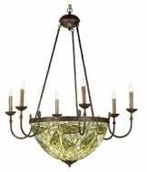 Meyda Tiffany 49092 Lotus Bud 6 Candle 35 Inch Diameter Tiffany Chandelier Light Fixture
