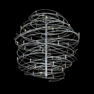 Meyda Tiffany 134563 Cyclone 36 Lamp Contemporary Hanging Chandelier Light Fixture