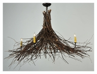 Meyda Tiffany 132515 Twigs Rustic 4 Candle Mahogany Bronze Lighting Chandelier