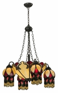 Meyda Tiffany 128352 Isabella 29 Inch Diameter 4 Arm Tiffany Chandelier Lamp