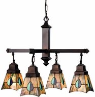 Meyda Tiffany 24269 Mackintosh Leaf 4 Light Tiffany Chandelier
