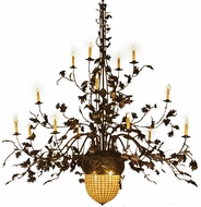 Meyda Tiffany Acorn and Oak Leaves 100 inches wide 16 Bulb Chandelier