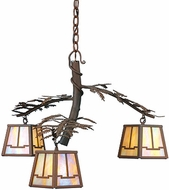 Meyda Tiffany 67905 Pine Branch 3 Light Rustic Chandelier