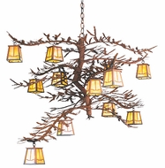 Meyda Tiffany 67904 Pine Branch 48 inches wide Rustic 12 Light Chandelier
