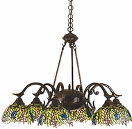 Meyda Tiffany 27397 Honey Locust 6 Light Tiffany Chandelier
