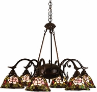 Meyda Tiffany 27399 Rosebush Tiffany 6 Light Chandelier