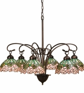 Meyda Tiffany 18713 Cabbage Rose 6 Light Tiffany Chandelier