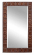 Uttermost 13646 Adel Oversized Rectangular 71 Inch Tall Burnished Bronze Home Mirror