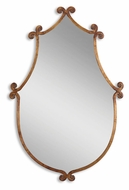 Uttermost 13648 Ablenay Antiqued Gold Finish 37 Inch Tall Shield Shape Wall Mirror