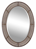 Uttermost 13716 Matney Beveled Oval 34 Inch Tall Home Mirror - Oil Rubbed Bronze