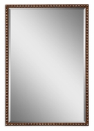 Uttermost 13749 Tempe 31 Inch Tall Transitional Rusty Brown Narrow Frame Mirror