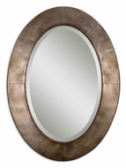 Uttermost 13773 Kayenta Beveled Antiqued Silver Frame 37 Inch Tall Oval Mirror