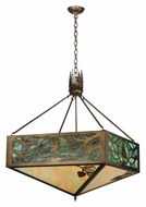 Meyda Tiffany 114497 Square Balsam Pine Tree Antique Copper 39 Inch Diameter Lighting Pendant