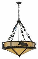 Meyda Tiffany 115033 Lone Moose 31 Inch Diameter Timeless Bronze Drop Lighting Fixture