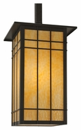 Meyda Tiffany 115646 Square Hyde Park Synthesis Timeless Bronze Finish Craftsman Ceiling Pendant Light