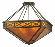 Meyda Tiffany 110803 Amber Mica Diamond Mission Octagon Lighting Pendant - 32 Inches Wide