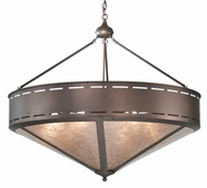 Meyda Tiffany 108713 Simple Mission Mahogany Bronze 42 Inch Diameter Drop Lighting
