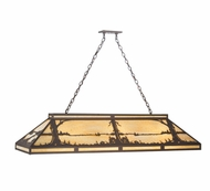 Meyda Tiffany 109153 Quiet Pond Rustic Caf� Noir 61 Inch Wide Kitchen Island Light - 9 Lamps