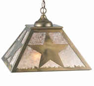 Meyda Tiffany 109564 Square Texas Star Antique Copper Finish Rustic Lighting Pendant - 22 Inches Wide