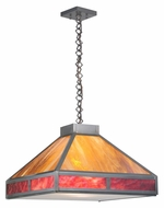 Meyda Tiffany 109769 Square Craftsman 25 Inch Wide Mini Pendant Lighting