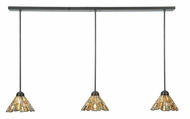 Meyda Tiffany 109917 Jadestone Delta 3 Lamp Timeless Bronze Linear Multi Pendant Light